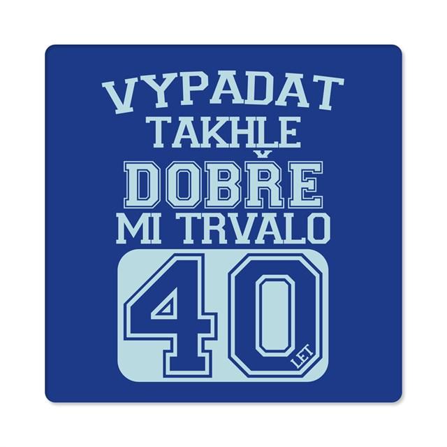 Humorná trička - Pánské humorné tričko - 40 let, vel. XXL