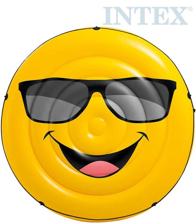 INTEX Lehátko kulaté smajlík 173cm nafukovací dětská matrace na vodu 57254