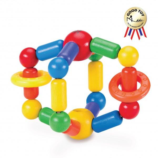 Wonderworld Dětské dřevěné chrastítko Twister