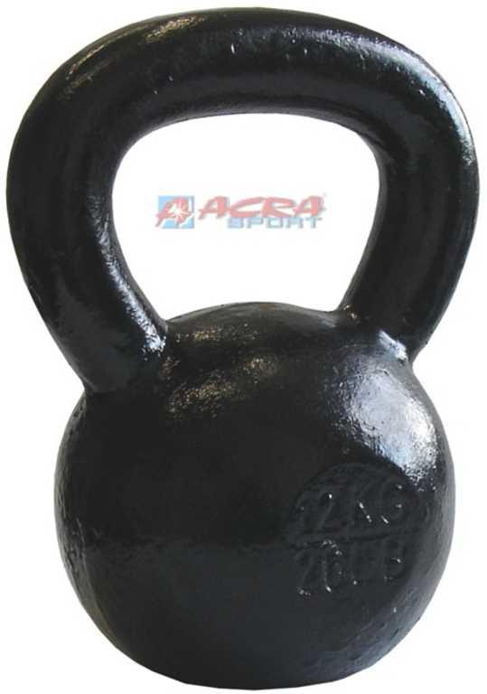 ACRA Činka jednoruční Kettlebell kovová 10 kg