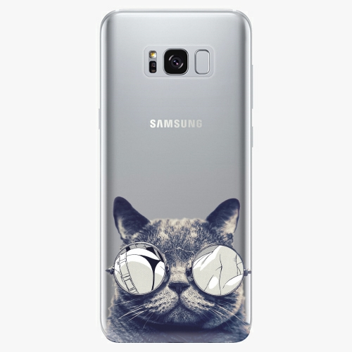 Plastový kryt iSaprio - Crazy Cat 01 - Samsung Galaxy S8 Plus