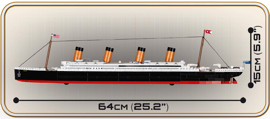 Stavebnice Titanic 1:450, 722 k