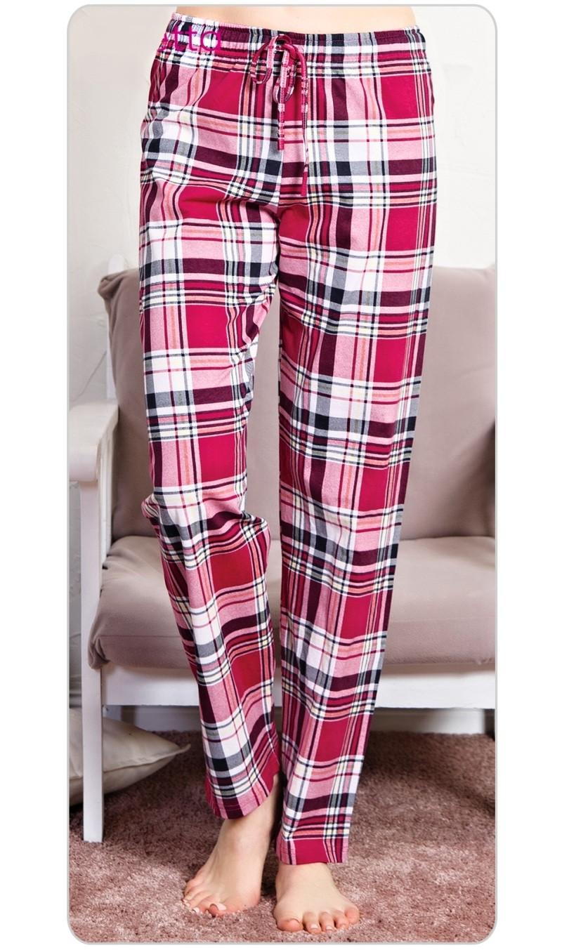 Dámské pyžamové kalhoty Anna - Malinová