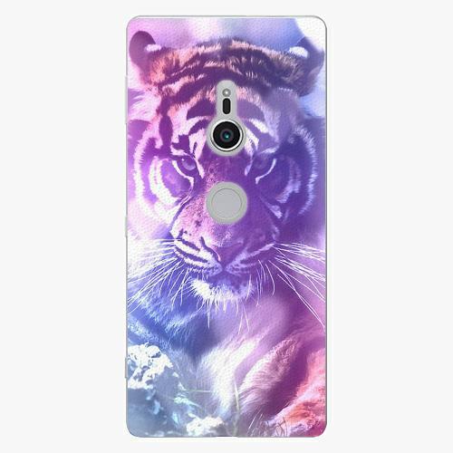 Plastový kryt iSaprio - Purple Tiger - Sony Xperia XZ2