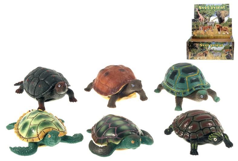 Želva figurka plastové zvířátko 13cm 6 druhů