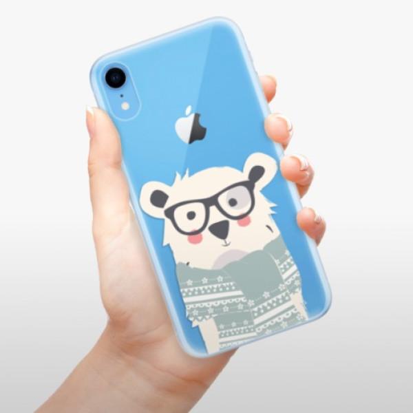 Odolné silikonové pouzdro iSaprio - Bear with Scarf - iPhone XR