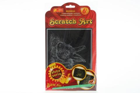 Vyškrabovací obrázek zlatý - králík