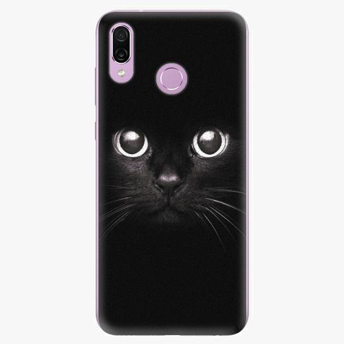 Silikonové pouzdro iSaprio - Black Cat - Huawei Honor Play