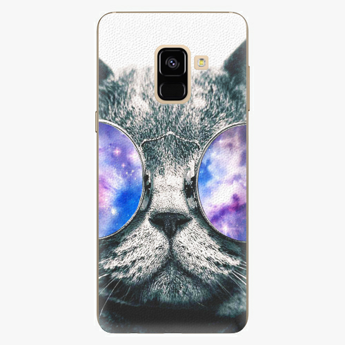 Plastový kryt iSaprio - Galaxy Cat - Samsung Galaxy A8 2018
