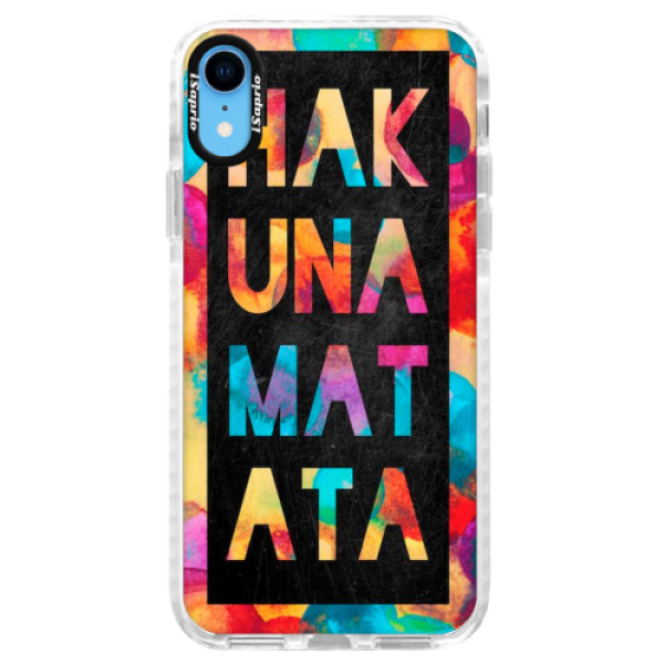 Silikonové pouzdro Bumper iSaprio - Hakuna Matata 01 - iPhone XR