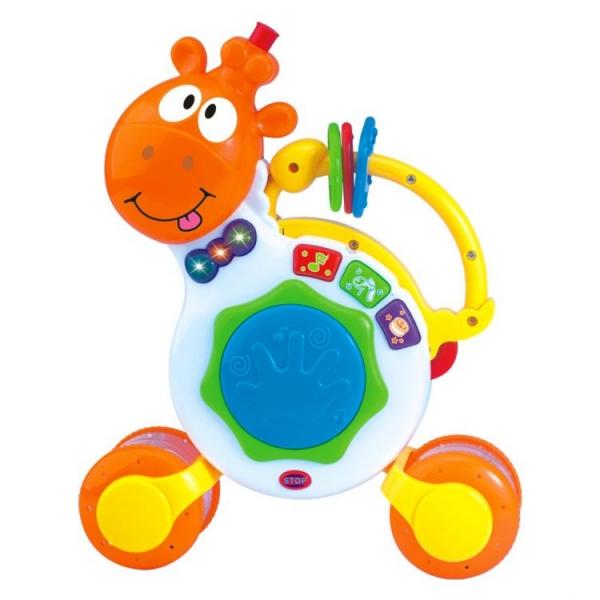 Interaktivní hračka s melodii Hrající žirafka