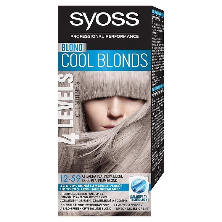 Blond Cool Blonds barva na vlasy Chladná platinová blond 12-59