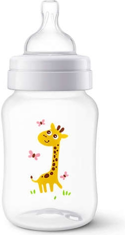 AVENT Antikoliková lahvička 260ml - Žirafka