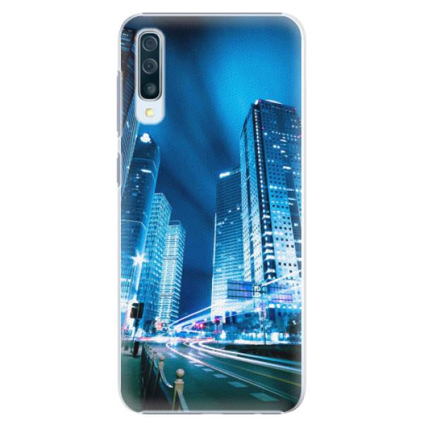 Plastové pouzdro iSaprio - Night City Blue - Samsung Galaxy A50