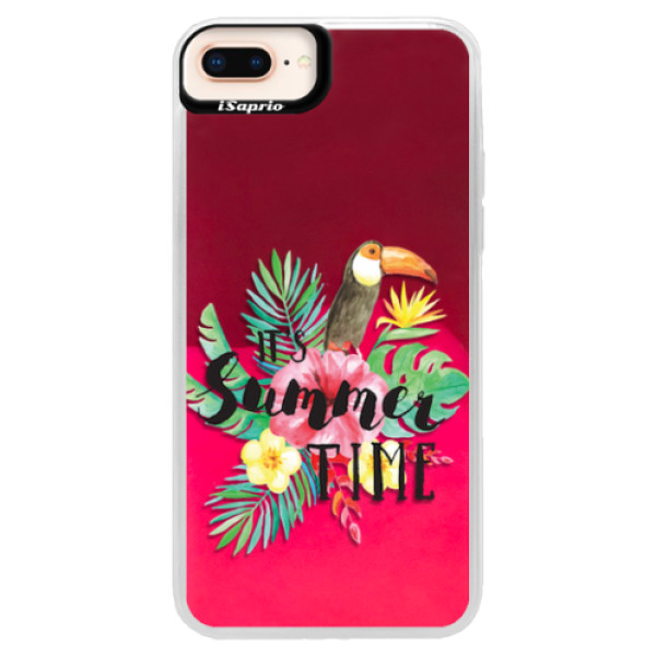 Neonové pouzdro Pink iSaprio - Summer Time - iPhone 8 Plus