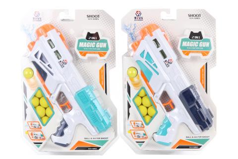 Pistole na vodu a pěnové kuličky