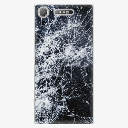 Plastový kryt iSaprio - Cracked - Sony Xperia XZ1