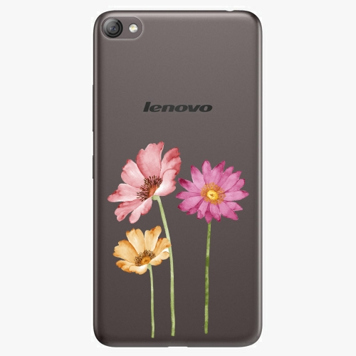 Plastový kryt iSaprio - Three Flowers - Lenovo S60