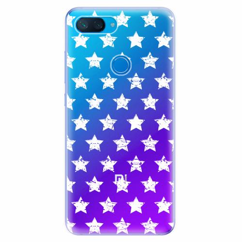 Silikonové pouzdro iSaprio - Stars Pattern - white - Xiaomi Mi 8 Lite