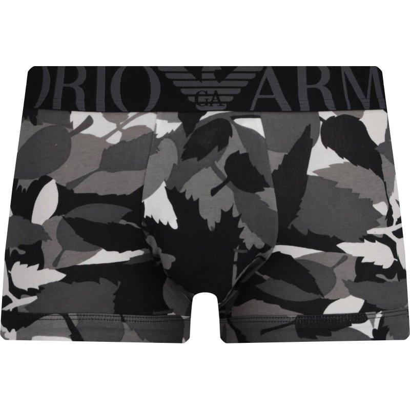Pánské boxerky 111389-8A509 šedá - Emporio Armani