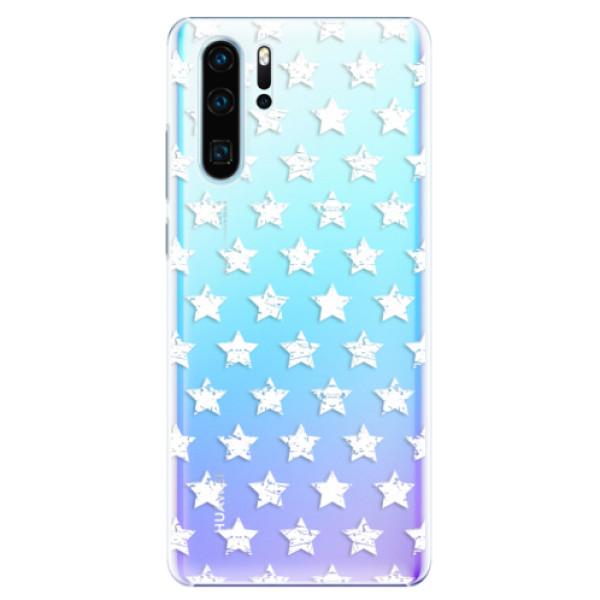 Plastové pouzdro iSaprio - Stars Pattern - white - Huawei P30 Pro