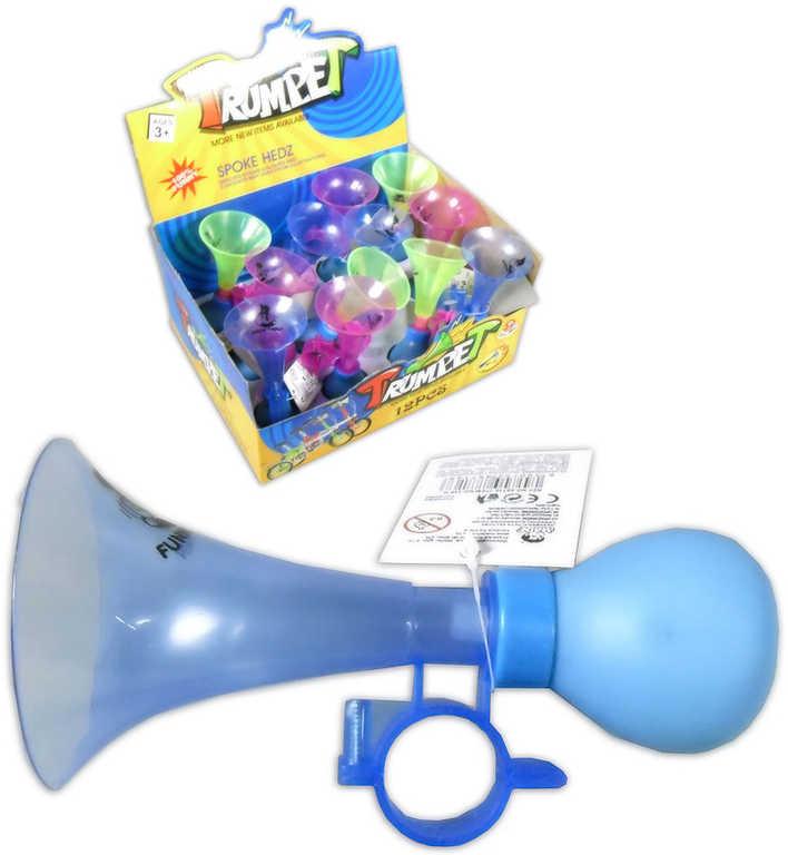 Trumpetka 14cm na jízdní kolo dětský plastový klakson 3 barvy