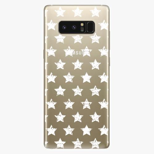 Plastový kryt iSaprio - Stars Pattern - white - Samsung Galaxy Note 8