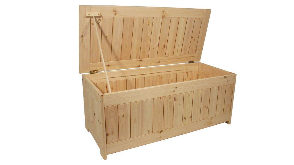 2a49e13af Zahradní úložný box bez povrchové úpravy - 134 x 59 cm
