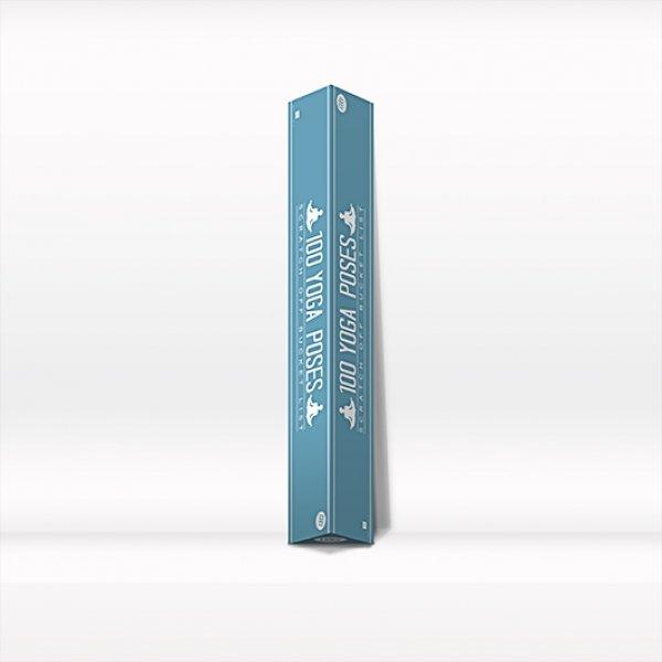Stírací plakát - 100 póz z yógy