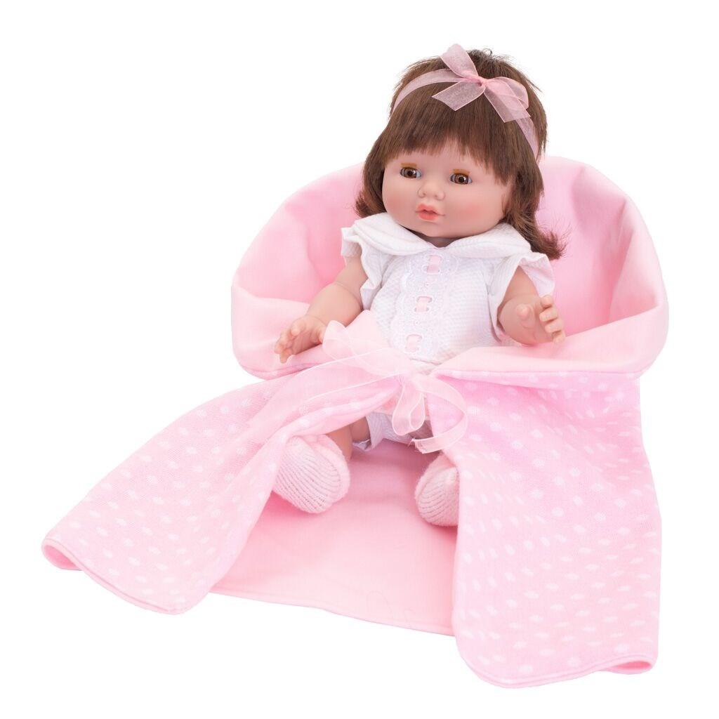 Luxusní dětská panenka-miminko Berbesa Monika 35cm - růžová