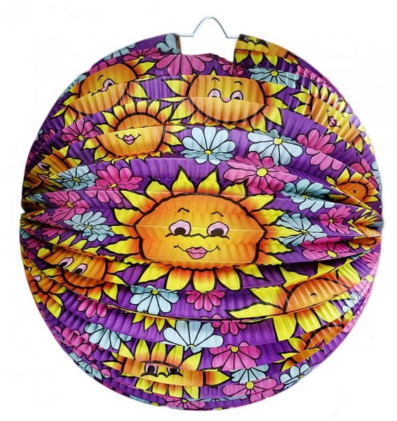 Lampion koule - slunečnice, 25 cm