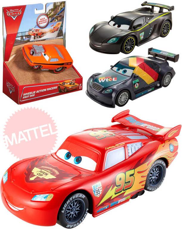MATTEL Autíčko natahovací 1:43 Cars (Auta) jezdí po zadních kolech 4 druhy
