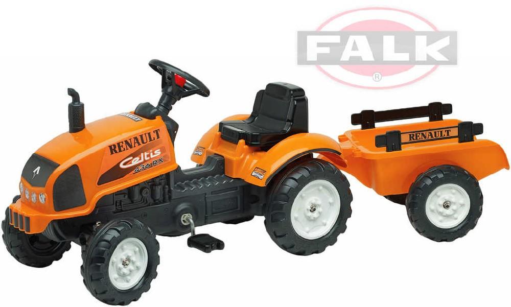 FALK Traktor šlapací Ranault Celtis 436RX s přívěsem a odklápěcím motorem plast
