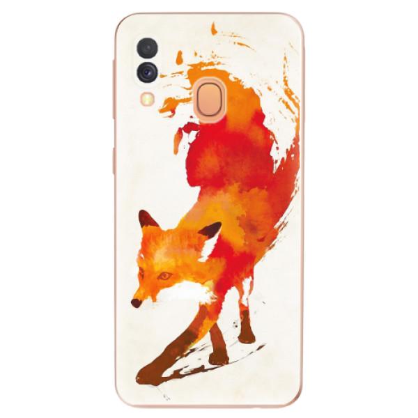 Odolné silikonové pouzdro iSaprio - Fast Fox - Samsung Galaxy A40