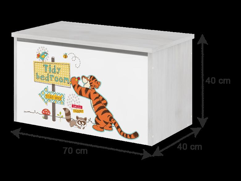BabyBoo Box na hračky s motivem Medvídek PÚ - black