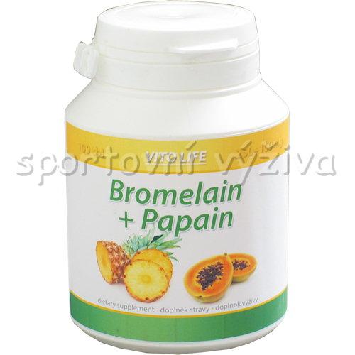 Bromelain + Papain 100 kapslí