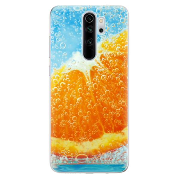 Odolné silikonové pouzdro iSaprio - Orange Water - Xiaomi Redmi Note 8 Pro