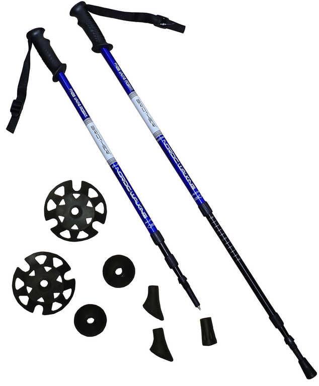 BROTHER Trekingové hole set 1 pár s příslušenstvím modré LTH130