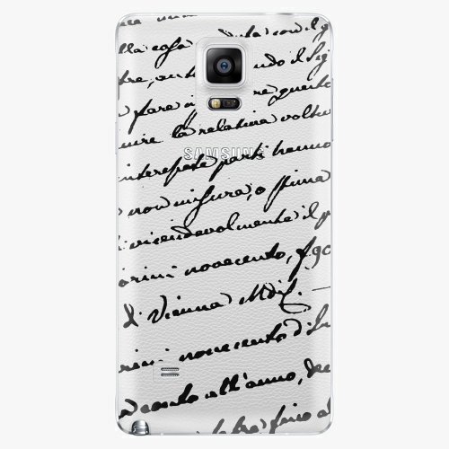 Plastový kryt iSaprio - Handwiting 01 - black - Samsung Galaxy Note 4