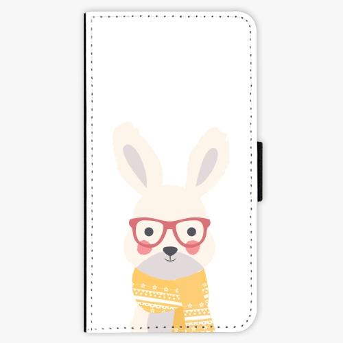 Flipové pouzdro iSaprio - Smart Rabbit - iPhone X