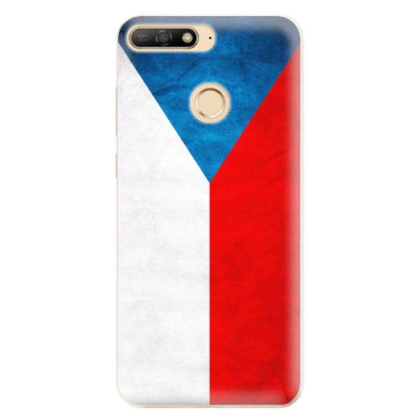 Odolné silikonové pouzdro iSaprio - Czech Flag - Huawei Y6 Prime 2018