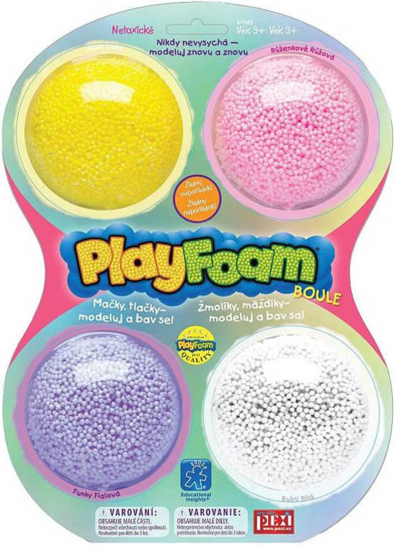 PEXI PlayFoam modelína pěnová boule dětská modelína set 4 ks