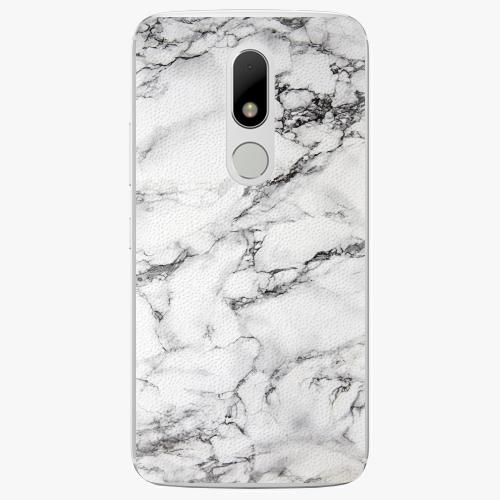 Plastový kryt iSaprio - White Marble 01 - Lenovo Moto M