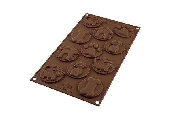 Silikonová forma na čokoládu – psí známky