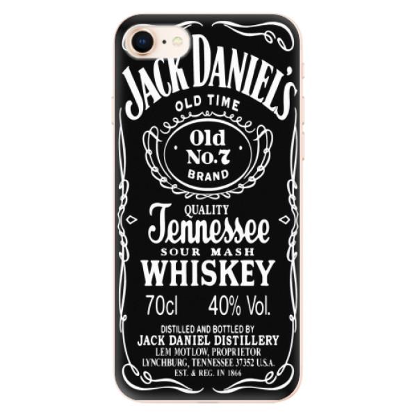 Odolné silikonové pouzdro iSaprio - Jack Daniels - iPhone 8