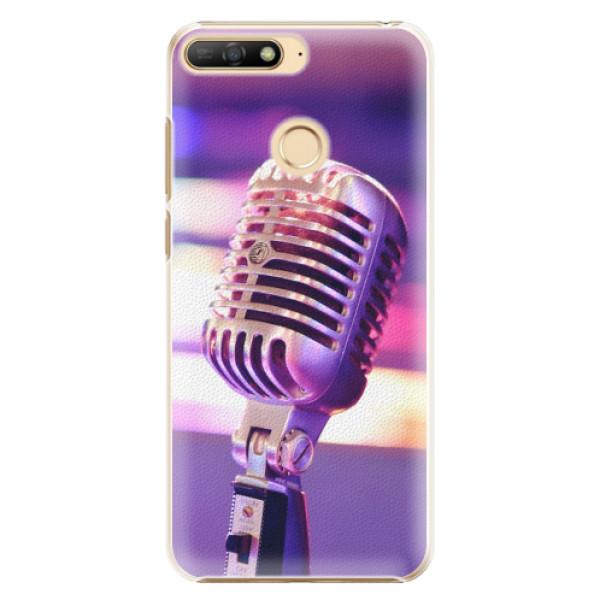 Plastové pouzdro iSaprio - Vintage Microphone - Huawei Y6 Prime 2018