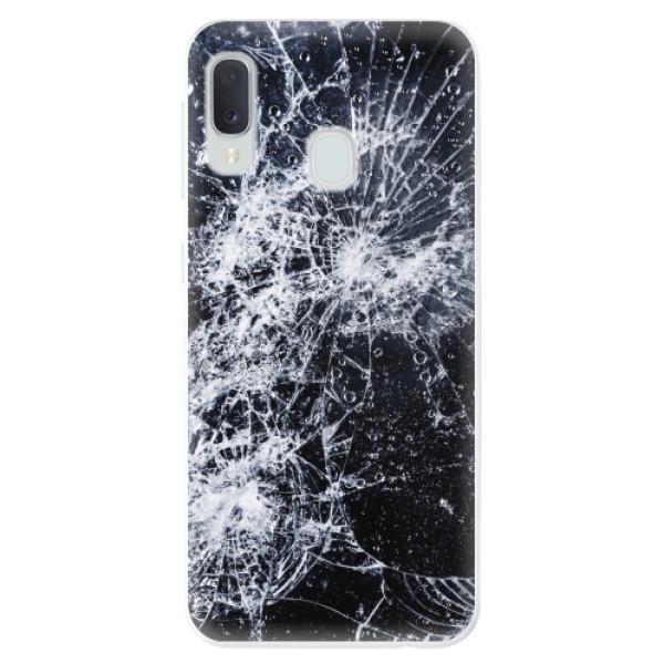 Odolné silikonové pouzdro iSaprio - Cracked - Samsung Galaxy A20e
