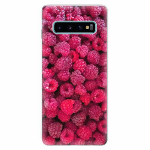 Silikonové pouzdro iSaprio - Raspberry - Samsung Galaxy S10