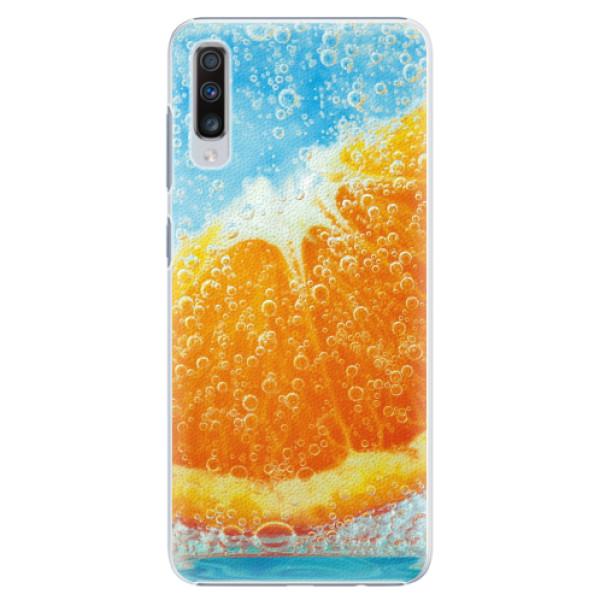 Plastové pouzdro iSaprio - Orange Water - Samsung Galaxy A70