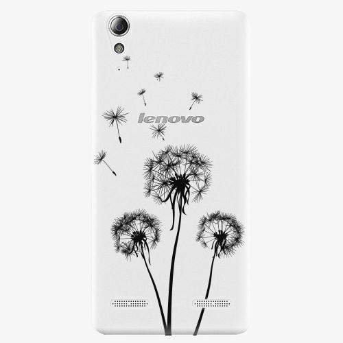 Plastový kryt iSaprio - Three Dandelions - black - Lenovo A6000 / K3